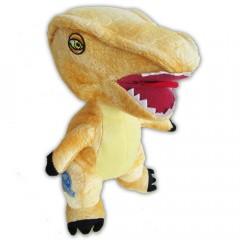 Jurassic World dino knuffel T-Rex geel 23cm