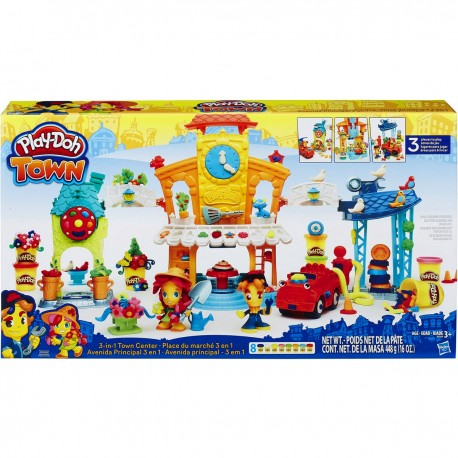 Play-Doh Town klei 3-in-1 stadscentrum