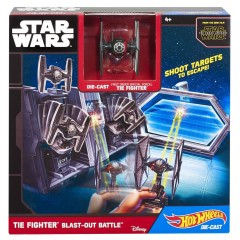 Hot Wheels Star Wars speelset Tie Fighter Blast-Out Battle