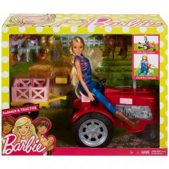 Barbie pop met tractor
