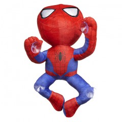 Spiderman knuffel crawling met zuignap 30cm