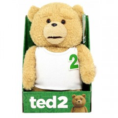 Ted 2 pratende knuffel - wit shirt