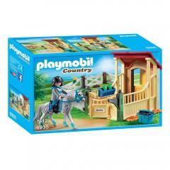 Playmobil 6935 Appaloosa met paardenbox