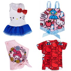 Barbie kleding 4 stuks Hello Kitty (set A)