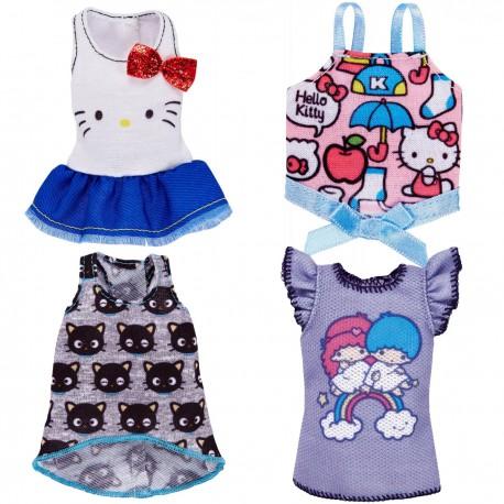 Barbie kleding 4 stuks Hello Kitty (set B)